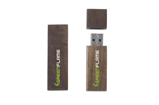 HOLZI USB-Stick: Der USB-Stick in Holz gefasst. Verfügbare Speichergrößen: 512 MB, 1, 2, 4, 8, 16