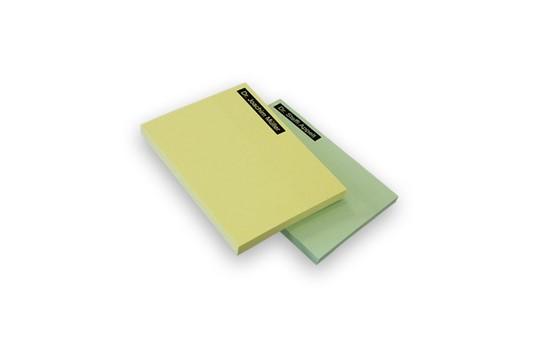 Haftnotizen 68 x 75 mm: Haftnotizen, Papier weiß ca. 80g/qm, Format ca. 68 (Haftstreifen) x 75 mm / ca.