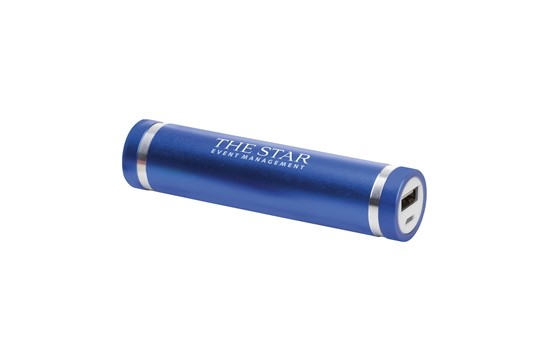 TRAVEL Powerbank 2000: Powerbank aus Aluminium mit integrierter Lithiumbatterie (2000mAh). Der Energies