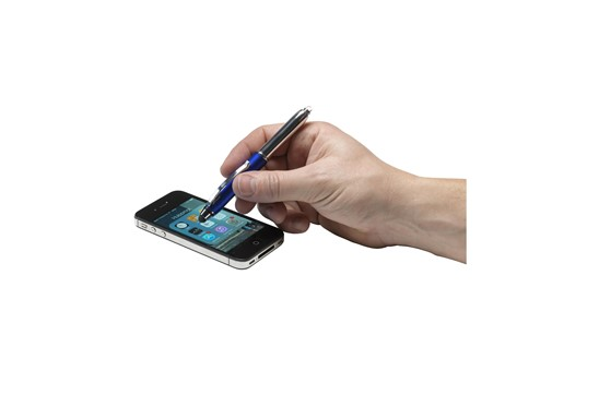 LED & Touch: Edler Kugelschreiber mit LED-Leuchte. Die Kunststoffkappe verfügt über ein zusät