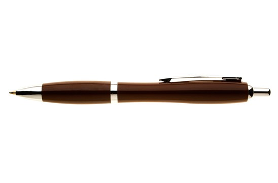 Kugelschreiber Surfer Fullcolor: mit taillierter Schaftform, Druckmechanismus, Großraummine, blauschreibend