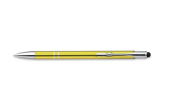 Delight Slim Touch Kugelschreiber:   Formschöner Metallkugelschreiber mit praktischer Touch-Pen-Funktion, blaue M