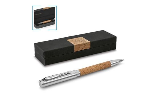 STAMM Kugelschreiber:   Dieser hochwertige Kugelschreiber mit Kork-Griffbereich kommt in einer edlen
