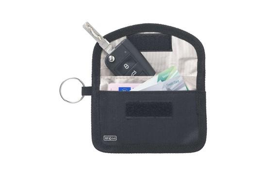 RFID Contactless Key Schlüsselschutz: RFID-Signalblocker für 'kontaktlose' Autoschlüssel. Hergestellt aus 600D-Polyest