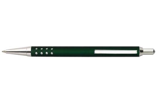 LIPAR Alu: Edler Druckkugelschreiber aus Metall mit Metall-Mine. Extra große Druckfläche!
