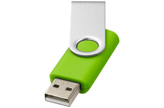 ROTO Basic USB-Stick: Hochwertiger USB-Stick aus Kunststoff und Metall, verfügbare Speichergrößen: 1,