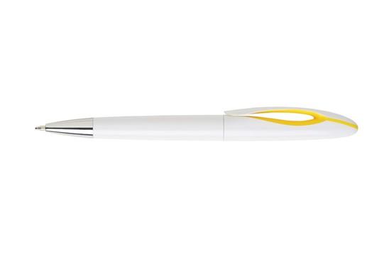 Anu Kugelschreiber: Kugelschreiber mit einem schicken Clip mit auffallendem Farbakzent und Drehklick