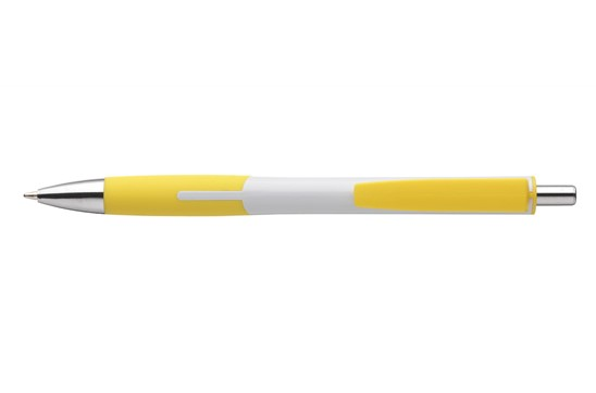 Carlos Kugelschreiber: Kugelschreiber mit grifffestem Vorderteil, blauschreibend