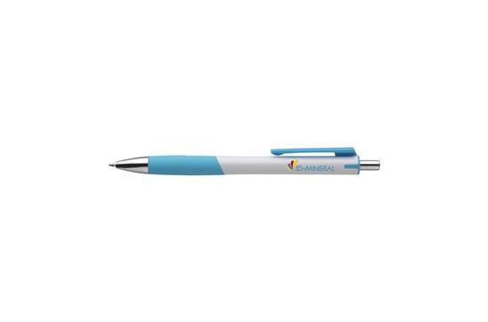 Karl Kugelschreiber: Kugelschreiber mit grifffestem Vorderteil, blauschreibend