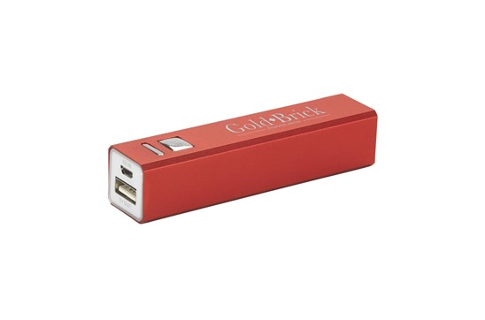 Powerbank Soho 2600: Praktische Alu-Powerbank mit Batteriestand-Indikator inkl. Batterie (2600/3,7 V)