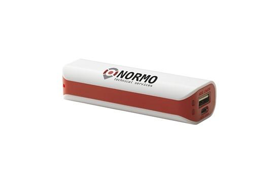NORM PowerCharger 2200: Powerbank mit integrierter Batterie (2200 mAh/3,7 V). Eingang: 5 V - 800 mA Ausg