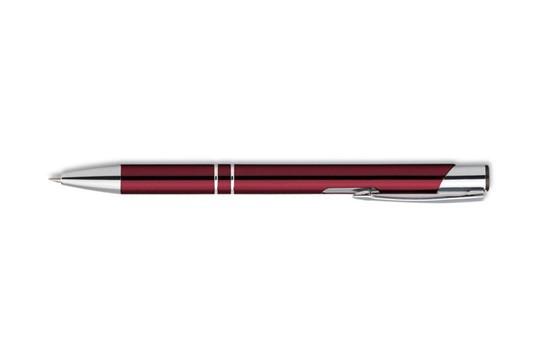 Delight Multicolor Kugelschreiber: Kugelschreiber mit blauer Mine, mit silberfabigen Akzenten und einem Clip aus Me