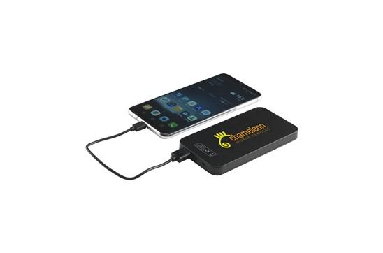 Powerbank Sunshine:   Leistungsstarke ABS-Netzteil mit hoher Ladekapazität mit Solarmodul und eing