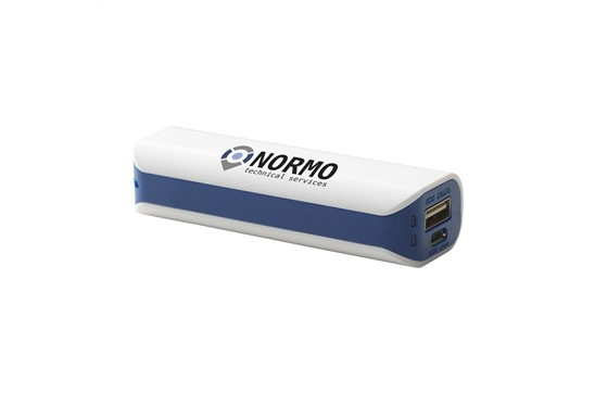 NORM PowerCharger 2200:   Powerbank mit integrierter Batterie (2200 mAh/3,7 V). Eingang: 5 V - 800 mA
