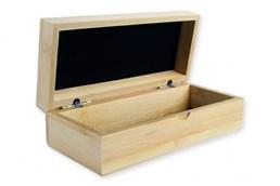BAMBUS Brillen Box: Box aus Bambus, Echtholz, Deckel und Boden schwarz ausgelegt, einzeln im Polybeu