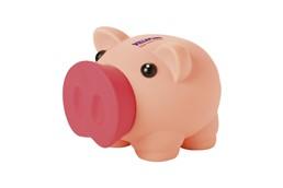 Sparschwein Biggy: Zum entnehmen des Geldes ist die Schnauze abnehmbar!