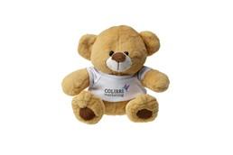Plüschbär Shorty:   Bär mit Hemd für Ihren Firmenaufdruck, Full-Colour-Aufdruck auf Anfrage gern