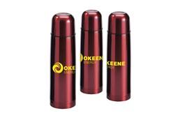 COLOR Thermoflasche:   Edelstahl-Thermoflasche mit Schraubverschluss/Trinkbecher und handlichem Sch