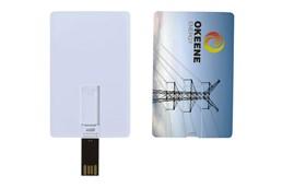 T-CARD 8 GB USB-Stick:   Hochwertiger USB-Stick aus Kunststoff in Form einer Kreditkarte, Speichergrö