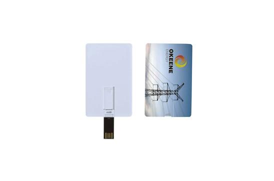 T-CARD USB-Stick im Kreditkartenformat: Hochwertiger USB-Stick aus Kunststoff in Form einer Kreditkarte, verfügbare Spei