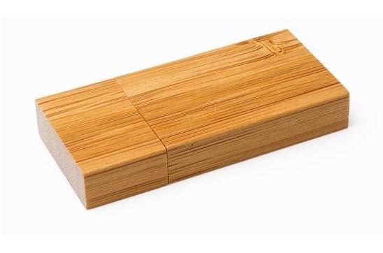 Big-Bamboo USB-Stick: USB-Stick mit umweltfreundliches Gehäuse aus Bambus und großer Druckfläche. Verf