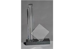 """""""Glas Pokal """"""""Monument"""""""" 24 cm"""": Unsere neuen Kristallglastrophäen gehören zur absoluten Spitzenklasse. High-End"""
