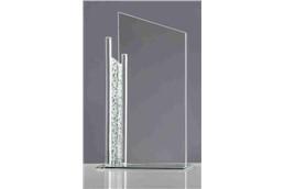 """""""Glas Pokal """"""""Silveredge"""""""" 21 cm"""": Wenn es eng um Ihr Budget aussieht, trotzdem eine Glas-Trophäe verschenkt werden"""