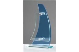 """""""Glas Pokal """"""""Welle"""""""" 19 cm"""": Wenn es eng um Ihr Budget aussieht, trotzdem eine Glas-Trophäe verschenkt werden"""