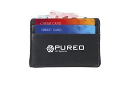 Credito Kartenhalter: Kompaktes Kreditkartenetiu aus Imitatleder für Z.B. Geld, Kreditkarten und Visit